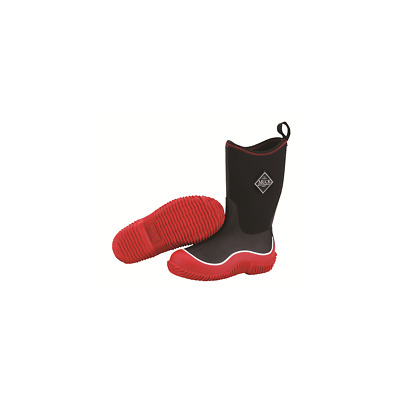 Muck Boots Company Kid's HALE, BLACK RED, Neoprene Rubber