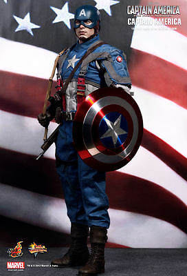 HOT TOYS CAPTAIN AMERICA FIRST AVENGER MMS 156 1/6 ACTION FIGURE BOX 90% new