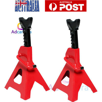 2PCS 3 Ton Axle Stands Lifting Ccapacity Stand Heavy Duty Car Caravan Floor Jack