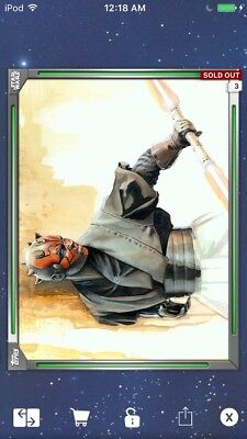 Topps Star Wars Digital Card Trader Green Premiere Paintings Maul Insert