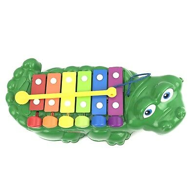 Fisher Price Vintage Green 2- in- 1 Crocodile Xylophone Children's Toys Musical