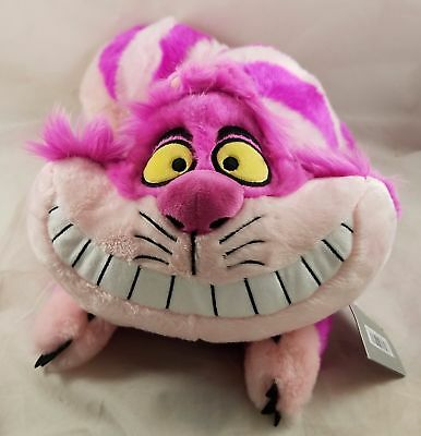 """New Disney Store Exclusive Alice In Wonderland Cheshire Cat Plush Toy Doll 20"""""""