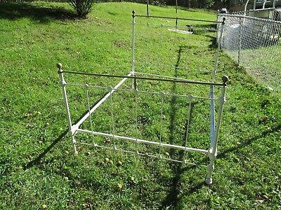 antique wrought iron / brass full size bed circa 1940's $69.00 Two days only