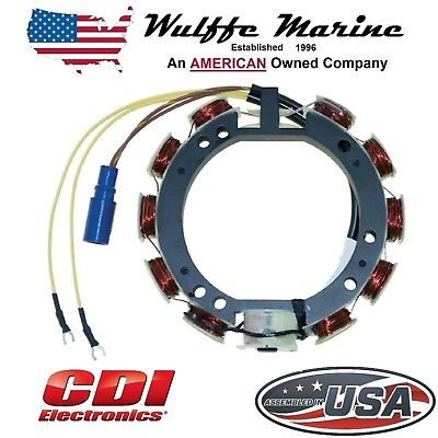 CDI 173-3536 583536 Stator for Johnson Evinrude Outboards 65-115 Hp V4