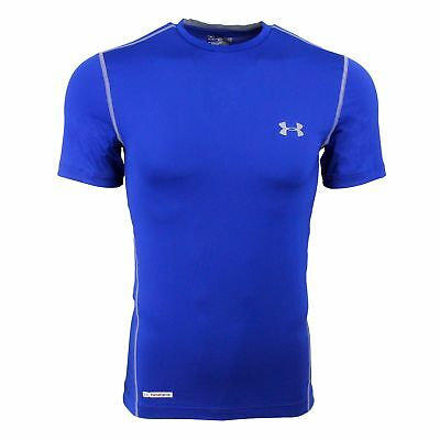 Under Armour Men's HeatGear Sonic Fitted T-Shirt Royal Blue/Steel 2XL