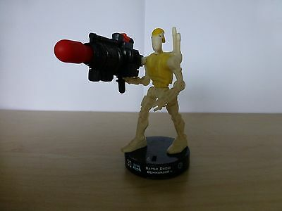 """Attacktix Star Wars Action Figure """"Battle Droid Commander"""" - HTF With Missile"""