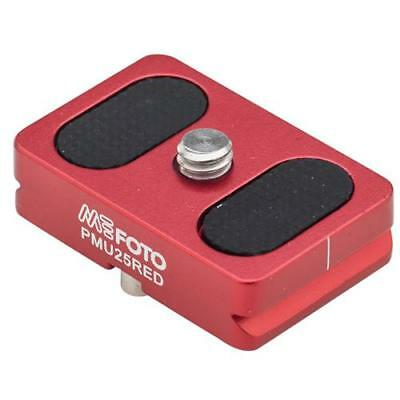 MeFOTO Camera Quick Release Plate for BackPacker Air Tripods, Red #PMU25RED
