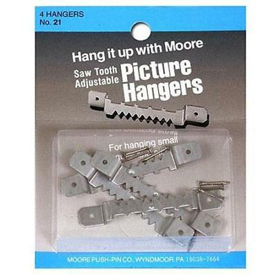Moore Large Adjustable Saw Tooth Hangers, Pack of 4 #21