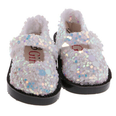 Stylish White Sequins Doll Shoes for 1/6 12'' Blythe Dolls Costume Accessory