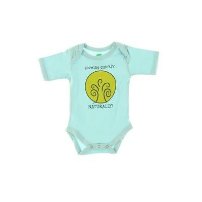 The Green Creation 9804 Blue Organic Cotton Growing Quickly Bodysuit 3-6 MO BHFO