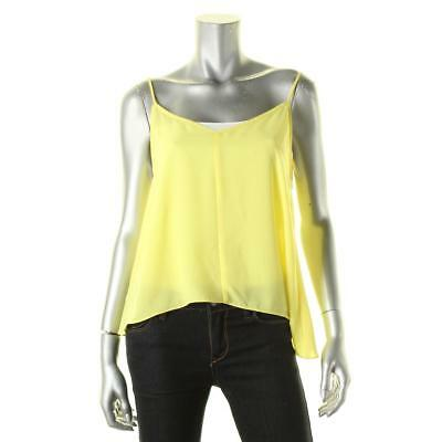 Aqua 6565 Womens Yellow Georgette Double V Adjustable Straps Camisole Top M BHFO