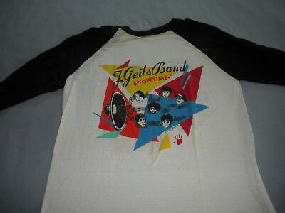 RARE New Unsold ,Never Washed Vintage 1982 The J GEILS BAND  Showtime T-Shirt Lg
