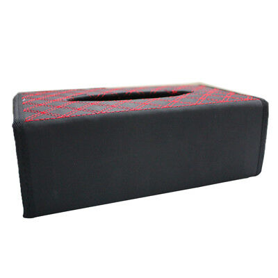 PU Leather Tissue Box Cover Toilet Paper Holder Home Car Tissue Holder Red