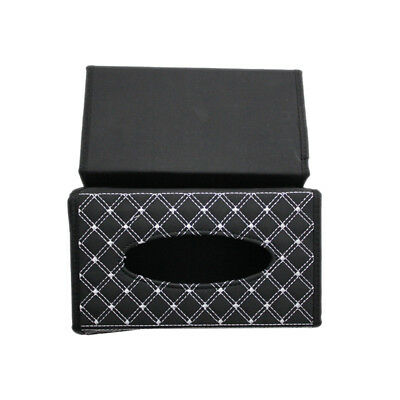 PU Leather Tissue Box Holder/Cover,Napkin Case for Car,Hotel,Home,Office WHT