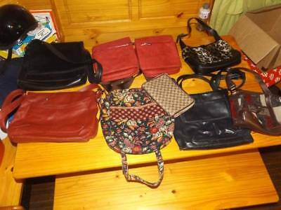 Nice Lot of 9 Purses & Wallet Vera Bradley Aposterphe Claiborne +