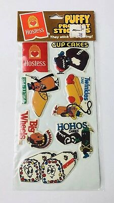 Vintage 1982 Hostess Puffy Stickers MIP Twinkies Ho Hos Big Wheels Wonder Bread