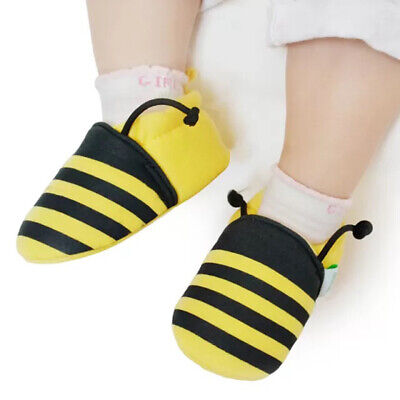 Cute Toddler Shoes Crib Crawler Trainers Baby Boys Girls Soft Sole Slip On