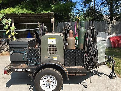 Thermal Arc Raider 10000 Pro  DC - CC/CV Welding Generator, gas, on trailer with