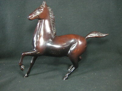 Vintage Solid Cast Iron / Bronze Statue Of Running Horse