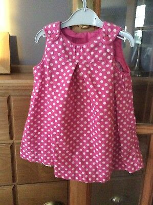 Baby girls Pink spotty dress 12-18 months H&M