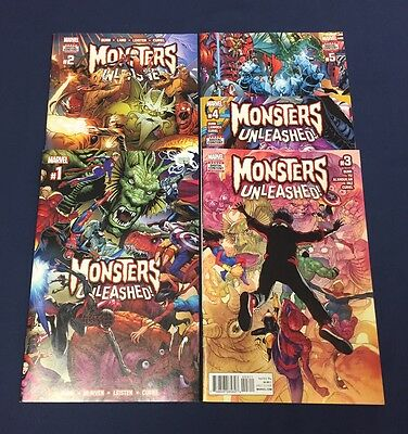 Monsters Unleashed #1-5 : Complete Event : Marvel 2017 : First Kid Kaiju : 2 3 4