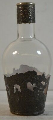 Antique Glass Bottle with 800 Silver Liner