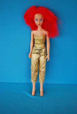"""1985 vintage 12"""" Hasbro Jem Doll KIMBER with Hot Pink Hair and Rock Star outfit"""