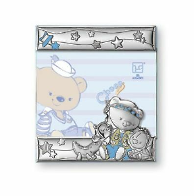 Silver Touch USA Sterling Silver Picture Frame Choco Bear In The Safari