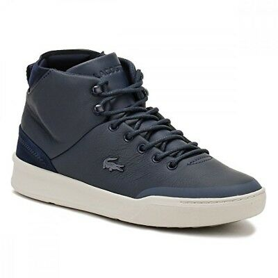 93ee37e84cd427 LACOSTE EXPLORATEUR CLASSIC 317-1 Cam Navy Leather Sneakers