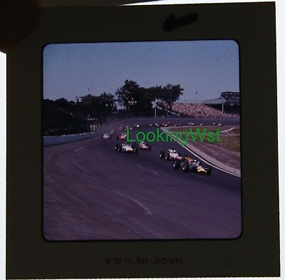 1965 Indianapolis 500 race 2 3/4 x 7mm color slide 3 Jim Clark leading the way