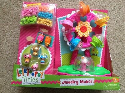 Lalaloopsy Tinies 2 In 1 Jewelry Maker And Playset Mittens Crumbs Exclusive Gold