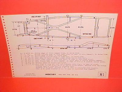 1946 1947 1948 Mercury Convertible Coupe Sedan Wagon Frame Dimension Chart