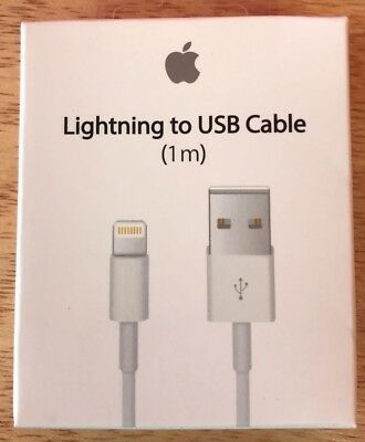 New Genuine Original Apple Lightning to USB Charge Cable for iPhone 7/6S Plus/5