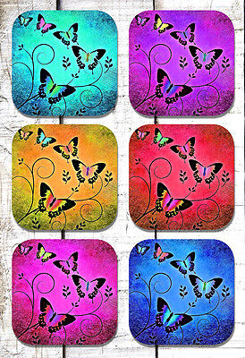 Butterfly Drink Coasters Set of Six