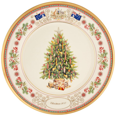 Christmas Plates China Dinner Plate Collection New Red Holiday Collectible