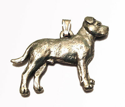 Pitbull Pendant Dog Harris Fine Pewter Made in USA jewelry natural ears