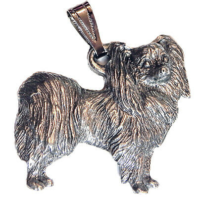 Papillon Pendant Dog Harris Fine Pewter Made in USA jewelry