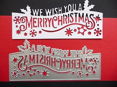 Thin Metal Cutting Die Dies Christmas We Wish You a Merry Scrapbook Sizzix