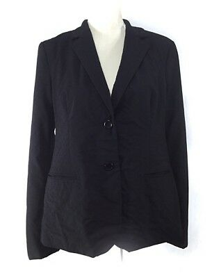 A Pea In A Pod Suit Blazer Jacket Medium Black Women's Maternity 95% Wool Lined