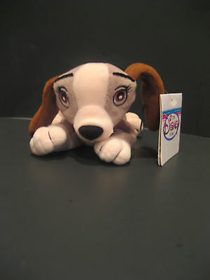 """NWT  8"""" DISNEY LADY Lady and the Tramp Plush bean Bag toy Disney Store Exclusiv"""