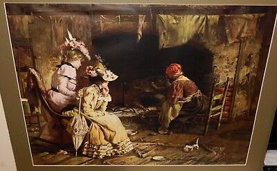 """Harry Roseland """"Mixing The Love Potion""""  Old Colored Print"""