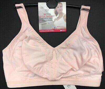 e3c24a3d29029 SPORTS BRA M S 1 Pack HIGH IMPACT Non Wired Multiway PINK Var Sizes NEW  BNWOT