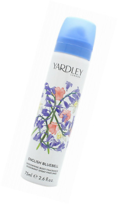 Yardley English Bluebell Body Care Déodorant corps parfum pour femme, 75 ml