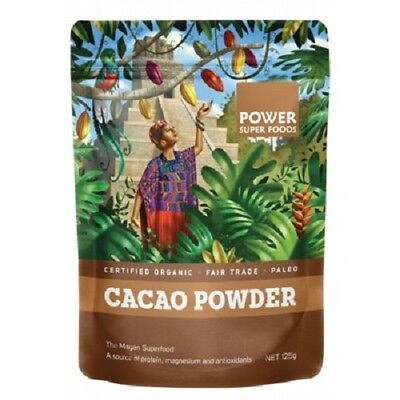 Power Super Foods Organic Raw Cacao Powder (4 Sizes Available)