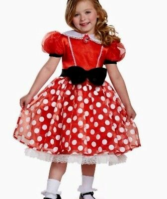 Disney® Minnie Mouse Girls Red Polka-Dot Halloween or Dress-up Costume 7-8 - NWT