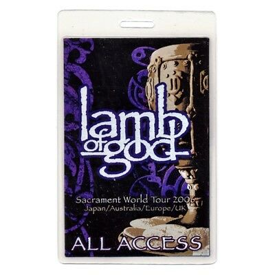 Lamb of God authentic 2006 concert Laminated Backstage Pass Sacrament Tour