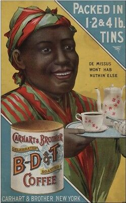 1907 Coffee Cafe Kitchen Decor Poster New Print African American Black Vtg 1579