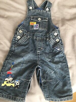 Baby Boys Denim Dungarees- Aged 6-9 Months