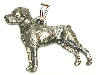 Rottweiler Pendant Dog Harris Fine Pewter Made in USA jewelry