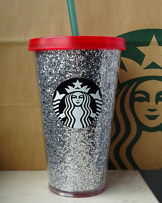 limitierter starbucks glitzer cold cup tumbler. Black Bedroom Furniture Sets. Home Design Ideas